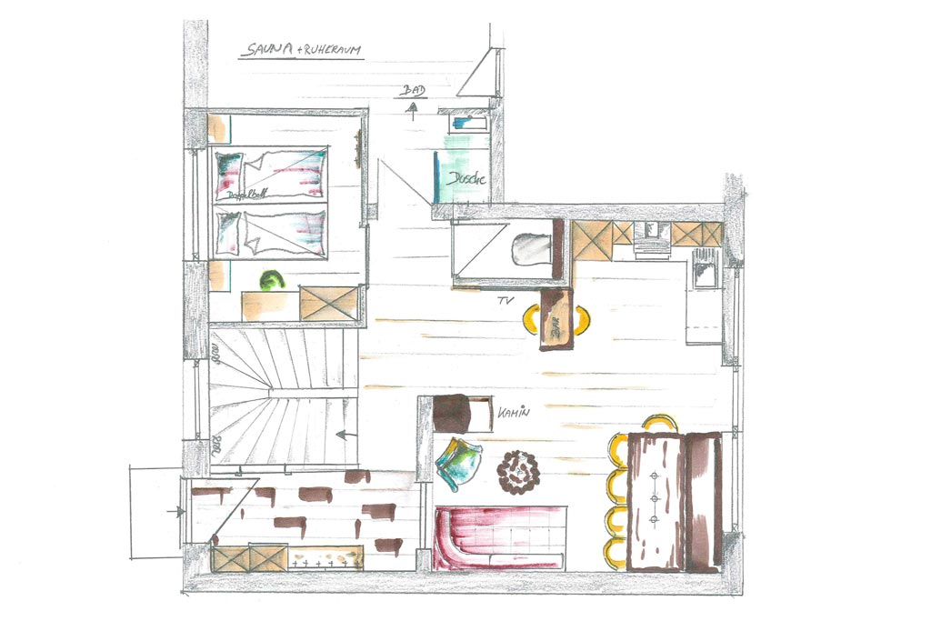Chalets AurAlpin | Layout | Ground Floor