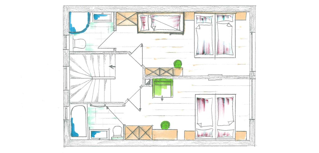 Chalets AurAlpin | Layout | Top Floor